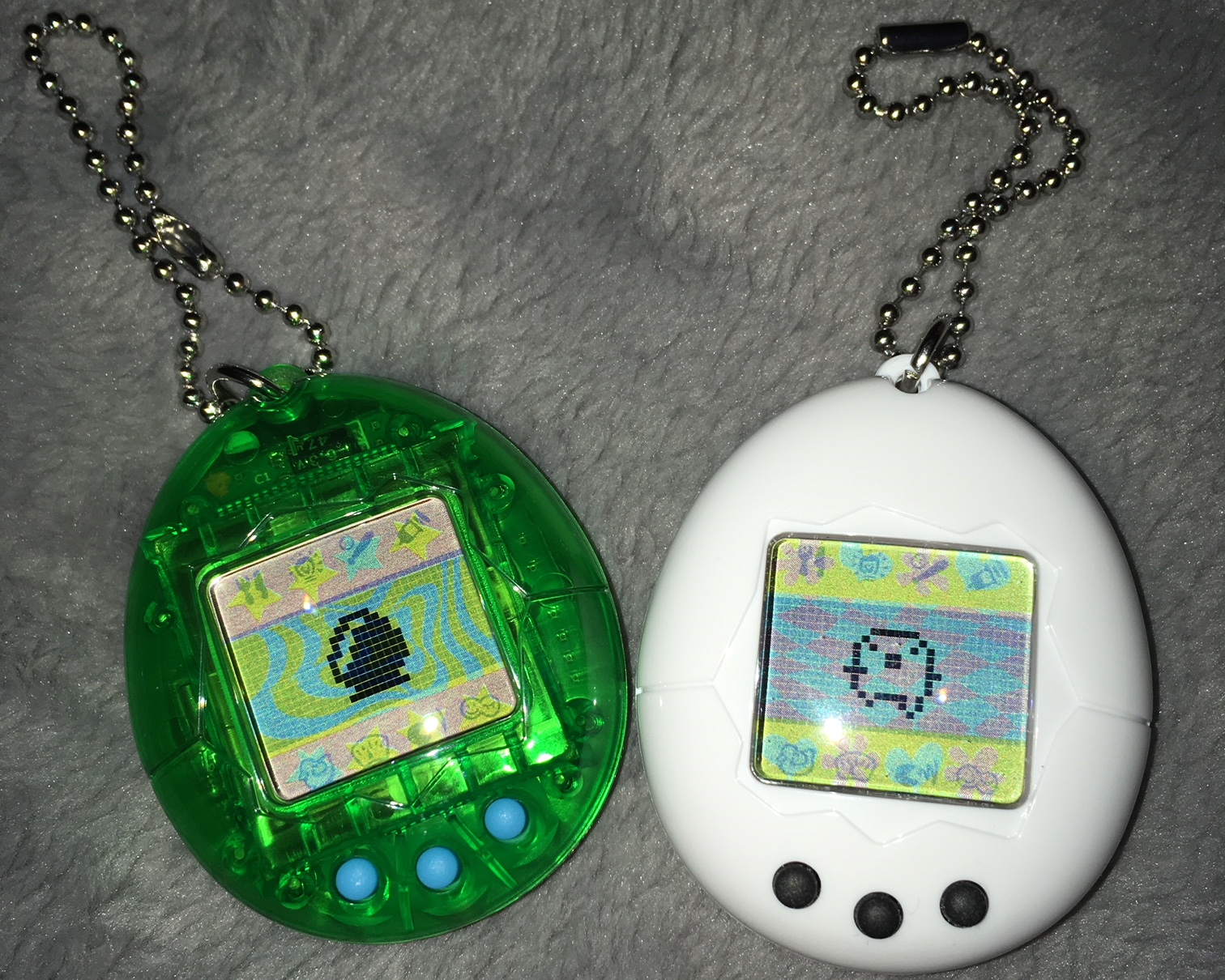 Clear Green 2017 Anniversary Tamagotchi and Tamatchi